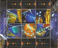 Israel: 2006 Sistema Solar Sheetlet SG1778-83 Estampillada sin montar