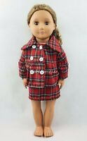 Lattice Pattern Red Dress Party Skirt For 18'' American Girl Doll Clothes Gifts