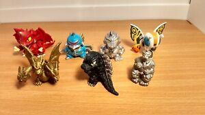 Godzilla 65th Anniversary Bandai Mecha Mothra Chibi Figure Diorama 6-Pack Set