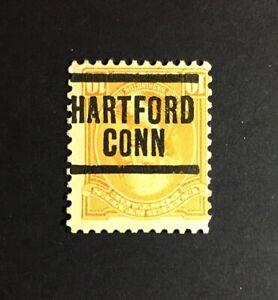 Hartford, Connecticut INVERT Precancel - 10 cents George Washington - U.S. #715