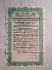 Hypotheek Mining and Milling Company Bond     1901 Idaho Corporation