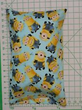 Minions MINION on AQUA -  Small Pillow Case & Travel / Toddler Pillow