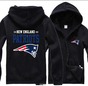 New England Patriots Hoodie Football Sweatshirt Mens Casual Jacket Zipper Hooded