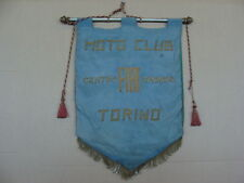 GAGLIARDETTO MOTO CLUB TORINO CENTRO SPORTIVO FIAT STENDARDO EPOCA OLD ITALY