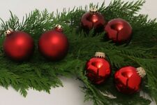 Christmas Ball Tree Glass Sphere Decoration Different Red Shades