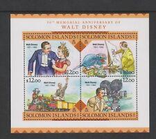 Solomon Islands - 2016, $12 x 4, Walt Disney set - Block of 4 - MNH