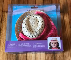 """Journey Girls Hawaiian Print Fedora and Sarong Fashion Hat Pack for 18"""" Doll NEW"""