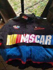 NASCAR M Jacket Bomber Winston Cup Series Racing Zip Front Black Vintage
