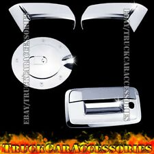 For CHEVY Silverado 2500/3500+HD 2014 Chrome Covers Half Mirrors+Gas+Tailgate KH