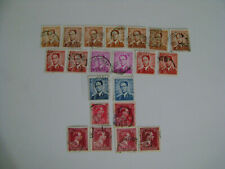 Belgium Belgique King Baudouin 1/King Leopold vintage lot of 21 cancelled stamps