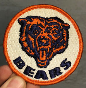 """NOS Vintage 1970's Chicago Bears NFL Football Embroidered Patch Hat Jacket 3"""""""