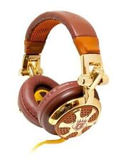 iFrogz EarPollution DJ Style Billionaire Headband Headphones - Brown/Chrome
