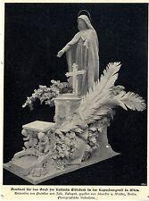 Denkmal für das Grab der Kaiserin Elisabeth in Wien Prof. von Zala Schaef...1900