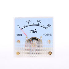 DC 0-300mA Rectangle Analog Panel Ammeter Gauge Amperemeter Class 2.5