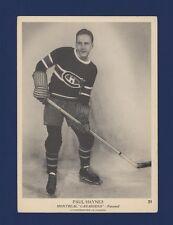 1939-40 O-Pee-Chee V301-1 Paul Haynes #31 Montreal Canadiens (5 X 7) Card!