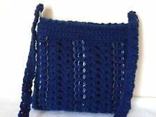 Bolso Mano Crochet Anillo Tire/puede tirar Bolsa Azul Marino Anillo Bolsa Tire patrón