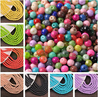 Quality Czech Opaque Coated Glass Pearl Smooth Round Beads 4mm 6mm 8mm