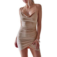 Women's Bandage Bodycon Backless Evening Party Cocktail Club Short Mini Dress