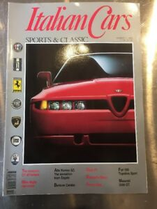 ITALIAN CARS MAGAZINE ISSUE 1 - 1990 - SPORTS & CLASSICS