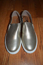 NEW Womens KENNETH COLE Slip On Gold Keena Loafer Shoes Size 7.5