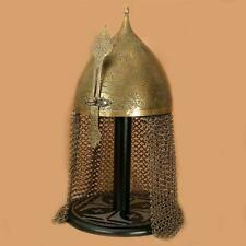 Medieval Battle Warrior Indo-Persian Helmet With Chainmail