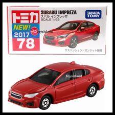 TOMICA #78 SUBARU IMPREZA 1/63 TOMY 2017 August NEW DIECAST CAR RED