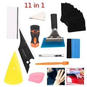 11 in 1 Wrap Vinyl Squeegee Felt Kit Car Window Tint Application Tools Film UK