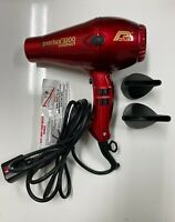 Parlux 3200 Black Compact Hair Dryer - Red