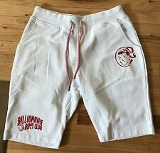 NEW BBC Billionaire Boys Club White Red Shorts Sweat Pants Joggers Large L