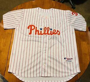 Majestic Cole Hamels Philadelphia Phillies MLB Baseball Men's Size 52