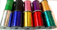 10 x Lurex Spools Thread High Quality embroidery with Multi colours UK Seller