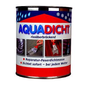 Aqua Dicht-dichtet sofort-Reparatur-Dichtmasse-faserverstärkt-1 kg Dose grau
