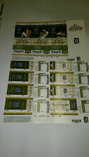 Detroit Tigers World Series Tickets Full Sheet 2011 ALDS-Beat NYY ALCS-Lost TEX