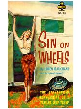 Sin On Wheels Art Poster Print by Paul Rader, 6x8