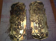 Reclaimed Solid Brass Door Finger Plates Antque finish 4 Pairs Fancy Classic