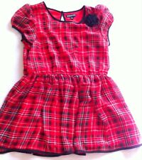 George Red, Black, & White Plaid Dress With Flower Accent Size Large 10/12