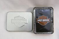 Harley Davidson Poker Bridge Playing Cards and Tin Set FACTORY SEALED