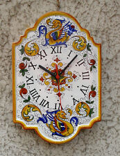 DERUTA POTTERY, BIG RAFFAELLESCO  PATTERN WALL CLOCK FREE EXP. SHIPPIMG