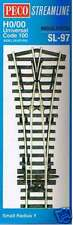 Peco SL-97 Code 100 OO Gauge Streamline Track Insulfrog Y Point Small Radius New