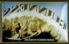 Guinness Surfer 2 Metal Sign Signboard 3D Embossed Arched Tin Sign 20 x 30 Cm