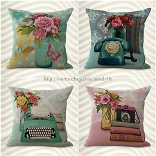 set of 4 cushion covers European vintage floral throw pillows for wholesale