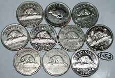 Canada 1960 1961 1962 1963 1964 1965 1966 1967 1968 1969 10 x 5 Cents Lot #N52