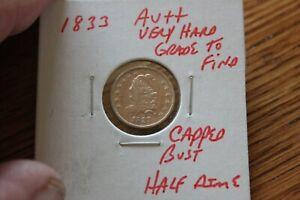 1833    AU++  CAPPED BUST HALF DIME