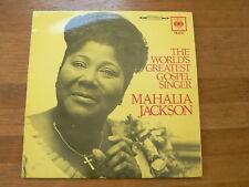 LP RECORD VINYL MAHALIA JACKSON THE WORLD'S GREATEST GOSPEL SINGER CBS PS62197