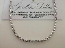 GOLD HALSKETTE Herren Damen 18 Karat 750% Massiv Kette WEIßGOLD Collier Italien