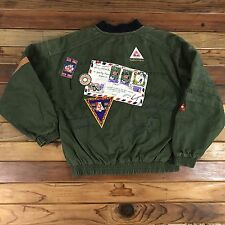 Vintage Le Coq Sportif Sports Coat Patches Embroidery Logos 90's Size M Rare