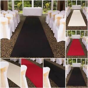 runrug Wedding Aisle Carpet Runner for Church Event - Cleanable - Plain Wilton
