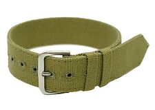 WWII Pattern 18mm Canvas Military Watch Strap manufactured by MWC of Zürich