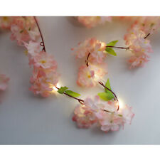 2.2M Cherry Flower Fairy Lights String 20 LED Wedding XMAS Party Home Decor