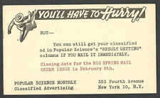 DATED 1944 PC NY POPULAR SCIENCE MONTHLY CLASSIFIED ADVERTISING
